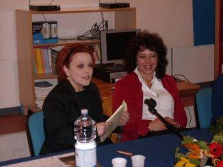 Gubbio, Sala consiliare. La scrittrice Gaja Cenciarelli