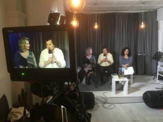 Lo scrittore Claudio Fiorentini e la relatrice Daniela Iodice